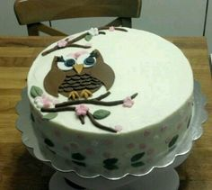 An owl cake I just finished....