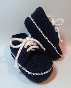 Tênis De Crochê Azul Marinho