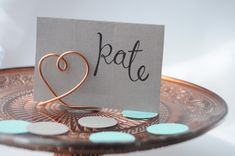 DIY Wire Place Card Holders
