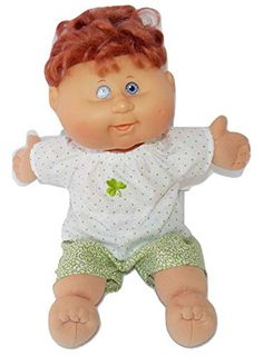Cabbage Patch Doll Clothes Fits 14 doll or 14 Preemie Includes One Blue Rainbow Heart Flannel Pajamas