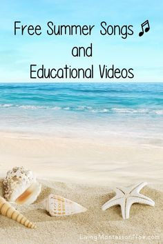 Free summer educational videos and a list of summer-themed free song and rhyme posts. Summer resources for a variety of ages - Living Montessori Now #summereducationalvideos #summerscience #homeschool #preschool #kindergarten #summertheme Preschool Themes, Montessori Activities, Preschool Kindergarten, Beach In Spanish, Free Summer, Summer Fun, Summer Science, Summer Songs, Free Songs
