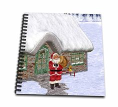 Simone Gatterwe Designs Holidays Christmas - Santa Claus is on his way to distribute the gifts - Memory Book 12 x 12 inch (db_200921_2) -- Be sure to check out this awesome product.