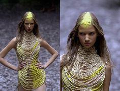 Alexander McQueen A/W 2000 catwalk show 'Eshu'.