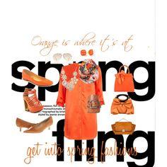 """Orange Spring Fling"" by suzanne-methven on Polyvore"
