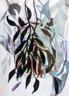 Massimiliano Fabbri / Memoria vegetale / 2013, collage, grafite, carboncino, china, penna biro, pastello a olio, bomboletta spray, pennarelli  e matite colorate su carta, cm 33x24