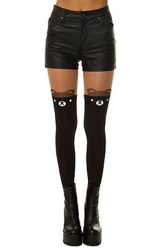 *Intimates Boutique Tights The Little Bear in Black and Nude Sale Price $6.95 use code: 50OFF75 for your LAST CHANCE at 50% off!