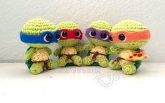 Patrón gratis amigurumi de Tortugas Ninja bebes