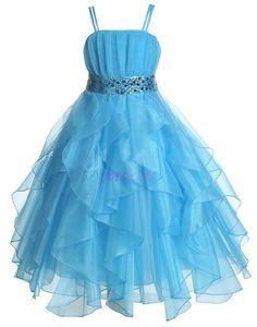 Turquoise Flower Girl Dress Sequined Dresses Royal by JbeeKids