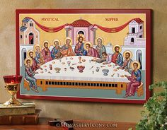 Mystical Supper icon from Monastery Icons by Monastery Icons, via Flickr