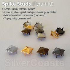 Pyramid Spike Studs Claw Rivets, DIY Costume Bag Belt Shoes Leather UK Seller