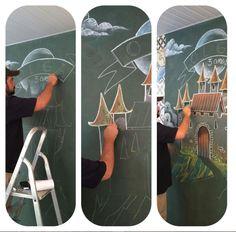 Painel para festa Olga 3 anos #lousadinoleta #halloween #chalkboard Foto: Raquel (Petit Party)