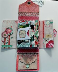 Lisa says: tutorial on her blog. Beautiful project! ArtFromMyHeart: A Mini Album In A Box ... with Teresa Collins Design ...