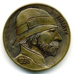 Steve Ellsworth - Mario Montañas Hobo, Buffalo, Classic Style, Coins, Carving, Mario, Rooms, Wood Carvings, Sculptures