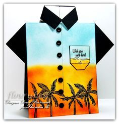 e51fe71e Hawaiian shirt card. Love the colors Birthday Wishes For Men, Birthday Cards  For Boys