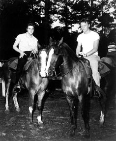Elvis vacation in july 1956 in Biloxi,here with his friend Red West.