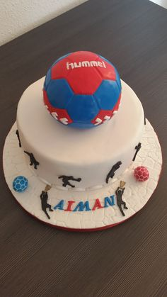Fondant Torte Handball www.geburtstagsto… – Pin's Page Memorial Day Sales, Happy Memorial Day, Volleyball Cakes, Cake Cookies, Cupcakes, Blue Suit Wedding, Grands Parents, Birthday Design, Le Chef