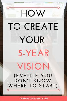 Creating a vision is nowhere near easy. It takes a commitment to trying to uncover what your really want out of life and strategizing on how to get it - without neglecting the other important areas of your life! // Thrive Lounge DC Motivation tips play Self Development, Personal Development, Leadership Development, Improve Yourself, Create Yourself, Finding Yourself, 5 Year Plan, Goal Planning, Strategic Planning