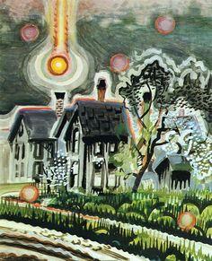 "thunderstruck9: ""Charles Burchfield (American, 1893-1967), Sun Setting in a Bank of Smoke, 1917."""