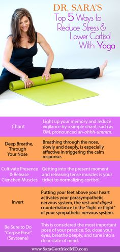 Dr. Sara's Top 5 Ways to Reduce Stress & Lower Cortisol with Yoga