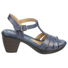 Naturalizer Brunie Sandals - Mali Blue Leather