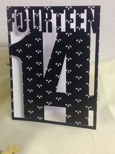 Happy Birthday 14th. Card, Polka Dot , friend , family , FREE CONFETTI , Paper Cut , Teens by PatchyPeanut on Etsy