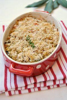 Millet Au Gratin with Vegetables and Mushrooms #glutenfreevegan