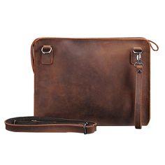 70d66812d US$56.55 - Ekphero Genuine Leather Shoulder Bag Retro Crossbody Bag Leather  Clutch Bags, Mens