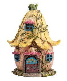 Yellow Fairy House Figurine #zulily #zulilyfinds