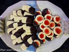 Poor and Gluten Free (with Oral Allergy Syndrome): Gluten Free Thumbprint Cookies & Chocolate Dipped Icebox Christmas Cookie Recipes