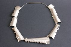 Lyn_Cooke Forged silver neckpiece inspired by rusting metal Rusted Metal, Distortion, Curling, Gold Leaf, Arrow Necklace, Jewellery, Silk, Inspired, Inspiration
