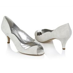 vintage-style low peep toe  rachel simpson wedding shoes (maybe in bronze-silver)//maid of honor_bridesmaid accessories ideas