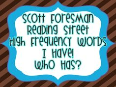 40 High Frequency words