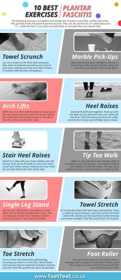 Plantar fasciitis is a foot condition that typically affects the arch and heel. Here are 10 best plantar fasciitis exercises to relieve pain and other symptoms. Healing Plantar Fasciitis, Remedies For Plantar Fasciitis, Plantar Fasciitis Stretches, Plantar Fasciitis Treatment, What Helps Plantar Fasciitis, Plantar Fasciitis Physical Therapy, Taping For Plantar Fasciitis, Neuroplasticity Exercises, Foot Exercises