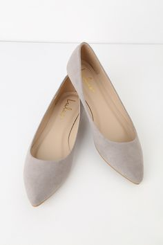 526be7eb9f8 You can t go wrong with the classic style of the Lulus Holly Grey Suede