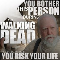 Sunday nights belong to the dead. If you bother me, you'll join them. The Walking Dead
