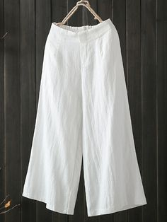 Purchase Wide Leg Solid Color Loose Elastic Waist Casual Pants from Sirzua Stuffs on OpenSky. Share and compare all Casual Pants in . Trouser Pants, Wide Leg Pants, Harem Pants, Loose Pants, Cropped Trousers, Linen Pants, Pant Jumpsuit, Pants For Women, Clothes For Women