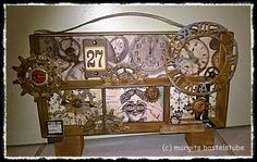 Schattenrahmen Industrial Style, Steampunk, Inspiration, Vintage, Bookbinding, Shadows, Frame, Crafting, Biblical Inspiration