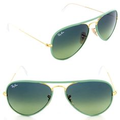 Brand new Sea green Raybans These are brand new, 100% authentic green gradient Raybans. Super cute Ray-Ban Accessories Glasses