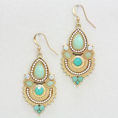 Athena Chandelier Earrings in Mint on Emma Stine Limited
