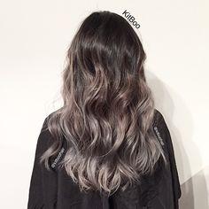 Dark grey with ash brown mid and natural base