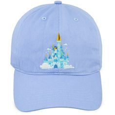 Cinderella Castle Baseball Cap for Adults Walt Disney World (499.480 VND) ❤ liked on Polyvore featuring accessories, hats, ball cap, disney, embroidered baseball hats, embroidered ball caps and baseball caps