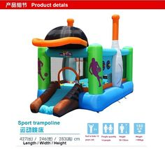 622.70$  Watch here - http://alijtp.worldwells.pw/go.php?t=1973522914 - 2017 new arrival Free Shipping Child inflatable bouncer home sport trampoline outdoor inflated castle kids bed-jump TY5704 622.70$