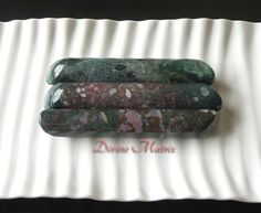 """Large 5.2"""" Crystal Bloodstone, Bloodstone Healing Wands, Large Massage Wand, Rounded Ends Wand, Energy Tool, Reiki Healing"""