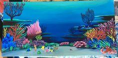 Brain Drawing, Ocean Drawing, Coral Reef Art, Coral Reefs, Underwater Theme, Underwater Painting, Ocean Mural, Ocean Art, Ocean Illustration