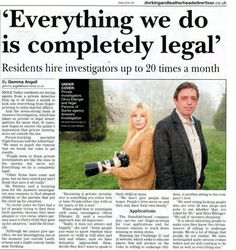Brothers In Arms, Newspaper Article, Private Investigator, Local News, News Articles, Surrey, The Guardian, Investigations, Detective