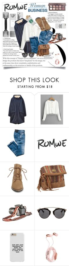 """""""Romwe contest"""" by maidaa12 ❤ liked on Polyvore featuring Joules, Steve Madden, Bandana and Christian Dior"""