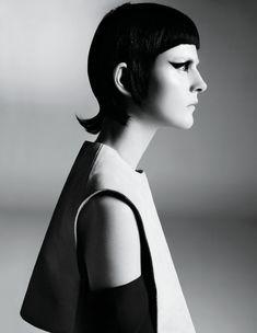 Stella Tennant - Starchitecture - W Magazine's March 2013  Steven Meisel  www.artandcommerce.com  via wmagazine.com    for #hair #makeup #light