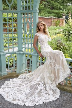 Mori Lee Wedding Dress, Wedding Dress Train, Fit And Flare Wedding Dress, Perfect Wedding Dress, Wedding Dress Sample Sale, Wedding Dresses For Sale, Bridal Wedding Dresses, Bridesmaid Dresses, Lace Weddings