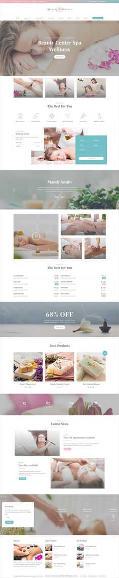 Wellness beauty is a wonderful #Photoshop template for #spa and complete #beauty care services website download now➩ https://themeforest.net/item/wellness-beauty-wellness-center-psd-template/19300698?ref=Datasata