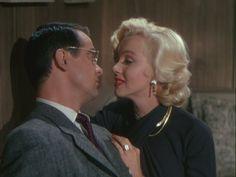 """Marilyn Monroe and Tommy Noonan, """"Gentlemen Prefer Blondes"""", 1953."""